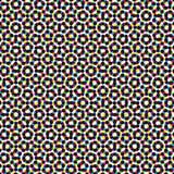 CMYK halftone seamless pattern. Stock Image