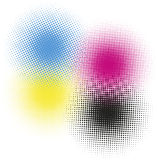 CMYK-HALVTON stock illustrationer