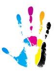 cmyk handprint Obrazy Royalty Free