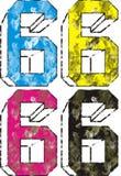 Cmyk and hifi printing. Describing the format of graphic design and printing cmyk hifi vector illustration