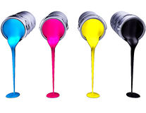 CMYK. High resolution rendering of cmyk colors Stock Images