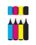 CMYK highlighters Stock Photo