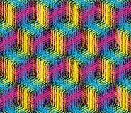 Cmyk-Hintergrund, polygraphische Schablone Lizenzfreie Stockbilder
