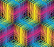 Cmyk-Hintergrund, polygraphische Schablone Stockfotografie
