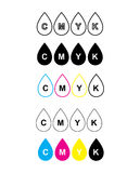 Cmyk icon,concept of colors mode printing, vector illustration Stock Photo