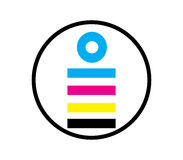 CMYK Icon Design Concept Royalty Free Stock Photos