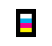 CMYK Icon Design Concept Royalty Free Stock Images