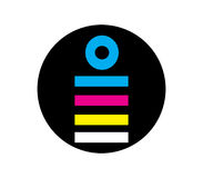 CMYK Icon Design Concept Stock Photos