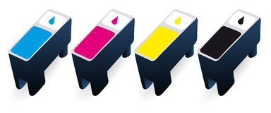 CMYK ink cartridges Royalty Free Stock Images