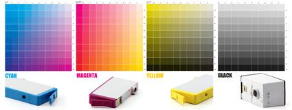 CMYK Ink color Royalty Free Stock Photos