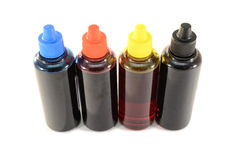 CMYK ink for printer Stock Image