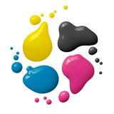 Cmyk ink Royalty Free Stock Photos