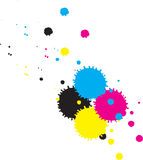 Cmyk inkdrops. Vector. Stock Images
