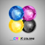 CMYK Jewels Royalty Free Stock Photos