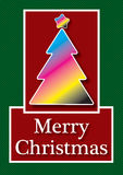 CMYK kartka bożonarodzeniowa Zdjęcie Royalty Free
