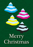 CMYK-Kerstmiskaart Royalty-vrije Stock Afbeelding