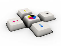 Cmyk keyboard button Stock Image