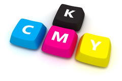 CMYK keypad Royalty Free Stock Photo