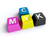Cmyk keys Royalty Free Stock Images