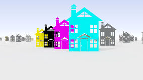 CMYK kleurenmodel Stock Foto's