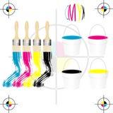 cmyk kolorów prasa Zdjęcie Royalty Free