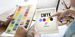 CMYK koloru Drukowego atramentu koloru modela pojęcie Fotografia Stock