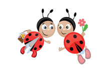 cmyk ladybugs Στοκ εικόνα με δικαίωμα ελεύθερης χρήσης