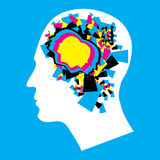 CMYK - Left and Right human brain Stock Photos