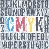 CMYK letterpress poster. Vector, EPS8 Stock Photos