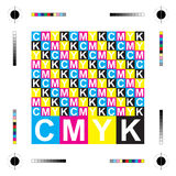 Cmyk letters Royalty Free Stock Photo