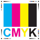 Cmyk letters Royalty Free Stock Photography