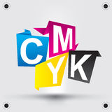CMYK letters design art image Royalty Free Stock Images