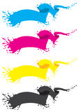 Cmyk liquid banner Stock Photography