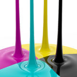 CMYK liquid ink Royalty Free Stock Photos
