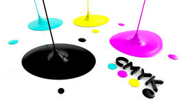 CMYK liquid inks Royalty Free Stock Photography