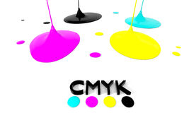 CMYK liquid inks Stock Images