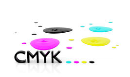 CMYK liquid inks Royalty Free Stock Photo