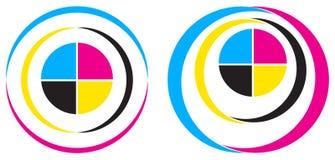 Cmyk logo Royaltyfria Foton