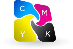 CMYK logo Royalty Free Stock Photos