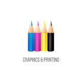 CMYK logo template Royalty Free Stock Photos