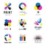 CMYK logo templates Royalty Free Stock Images