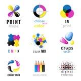 CMYK logo templates Royalty Free Stock Images