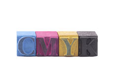 Cmyk made from letterpress blocks Stock Images