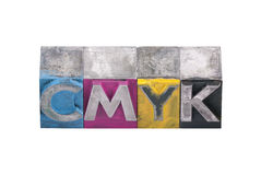 Cmyk made from metal letters Royalty Free Stock Photos