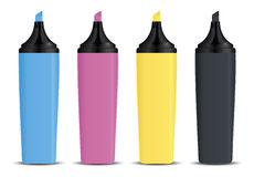 CMYK marker Royalty Free Stock Photo