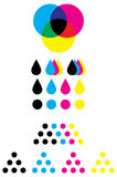 CMYK marks Royalty Free Stock Images