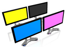 CMYK monitors Stock Images