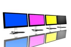 CMYK monitors Royalty Free Stock Image