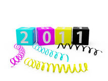 CMYK New year boxes Stock Photography