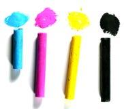 Cmyk paint Stock Photography